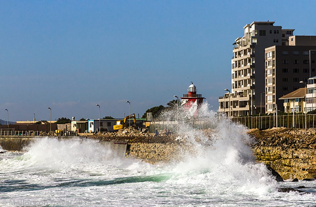 Earth Day; Powerful waves crashing against the sea wall of the promenade Sea Point in Cape Town, South Africa on Mallory on Travel adventure travel, photography, travel Iain Mallory-300-117