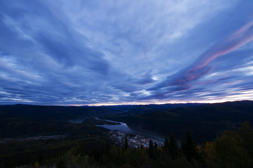 Best of Canada; The twilight view of Dawson City and the Klondike River from Midnight Dome in The Yukon, Canada on Mallory on Travel adventure travel, photography, travel Iain Mallory_Yukon 125