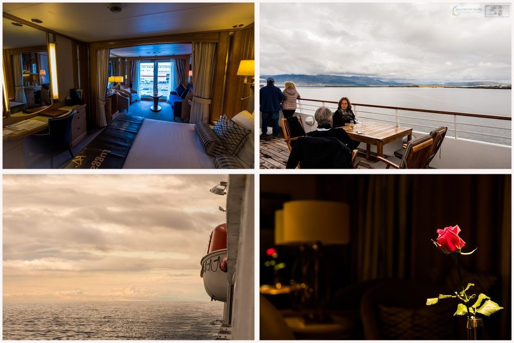 "Cabins and life aboard the Windstar ""Star Pride"" on a cruise of the ""Lands of the Midnight Sun"" in northern Europe on Mallory on Travel adventure travel, photography, travel Iain Mallory_montage1"