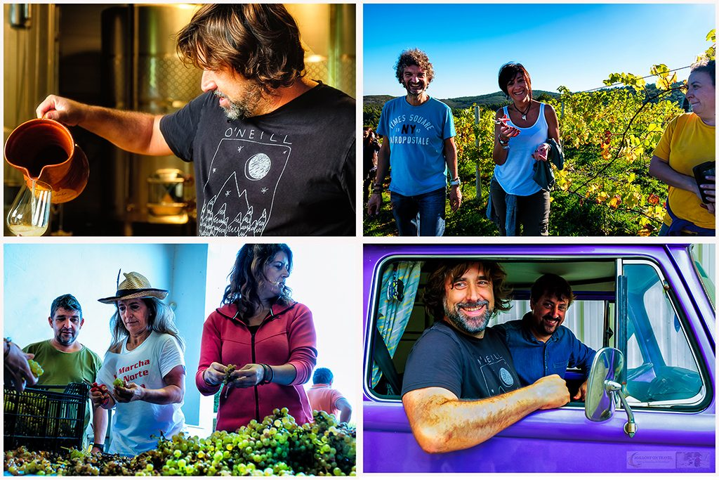 Owners and workers at the Bodegas Vidula winery and Bodega Miradorio de Ruiloba vineyards in Cantabria, in Green Spain on Mallory on Travel adventure travel, photography, travel Iain Mallory_Spain montage