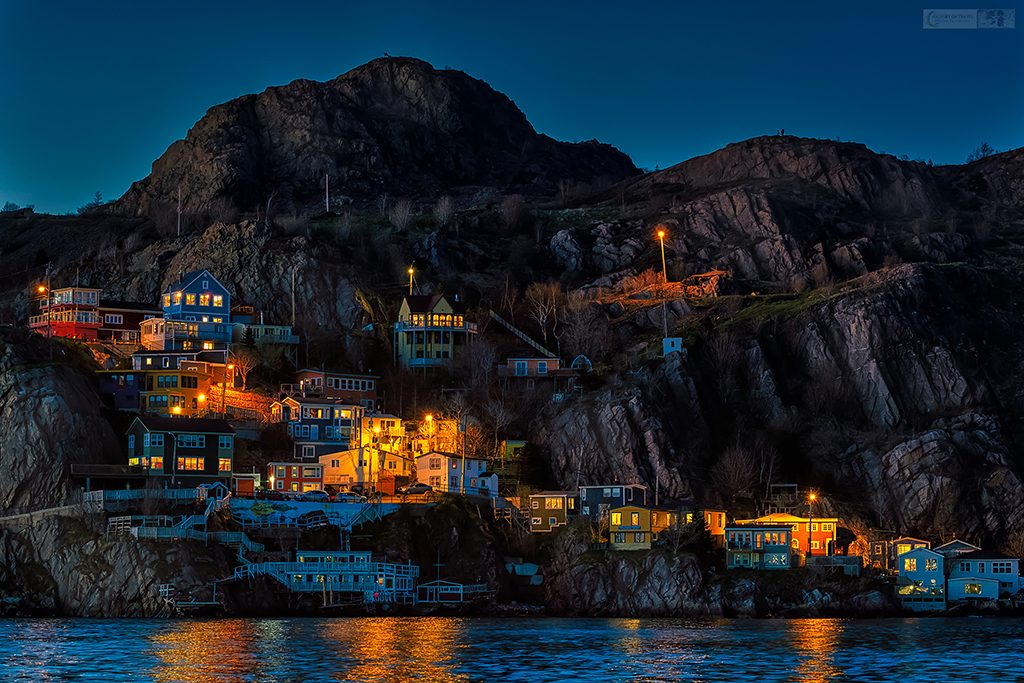 The Battery neighbourhood of St John's on the harbour of the Newfoundland capital city at twilight on Mallory on Travel adventure travel, photography, travel Iain Mallory_stjohns-1-8