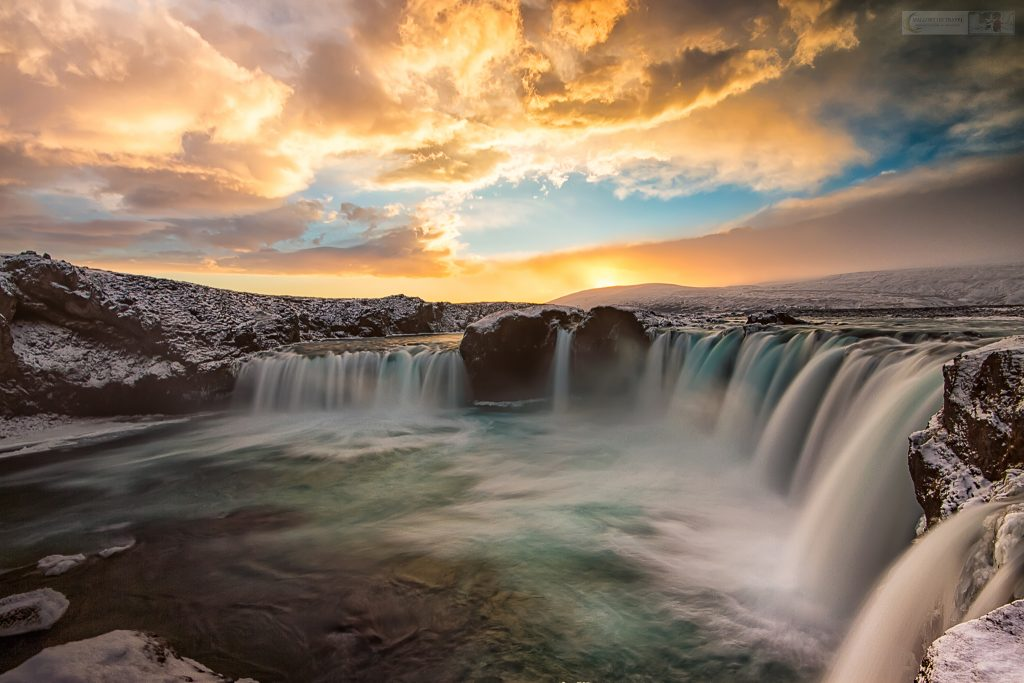 Winter at Gođafoss, the waterfall of the gods on the Skjálfandaflót in Iceland, the Land of Fire and Ice on Mallory on Travel adventure travel, photography, travel Iain Mallory_Iceland 003