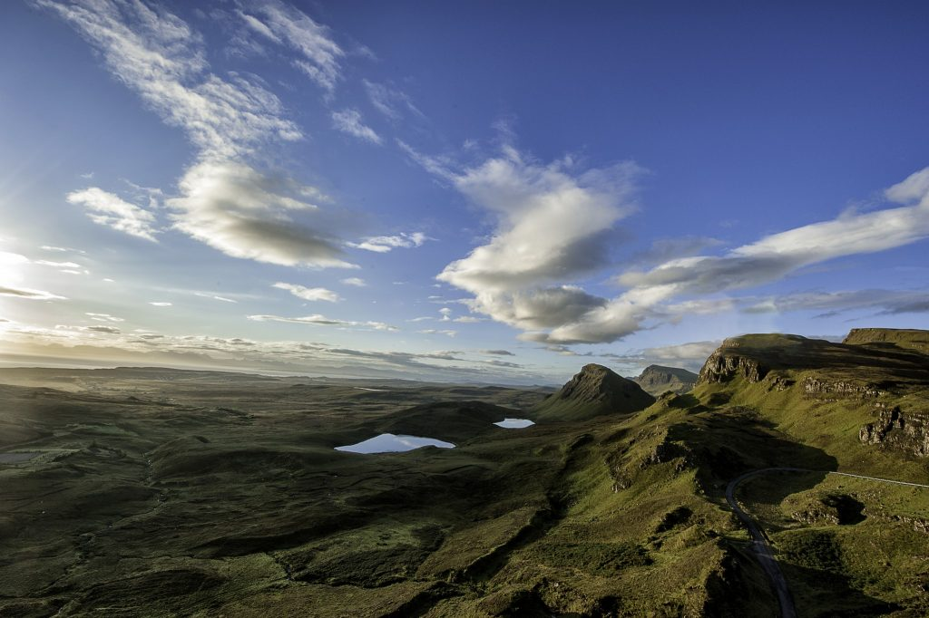 Campervanning in the highlands and islands of Scotland, the Quiraing on the Isle of Skye at dawn on Mallory on Travel adventure travel, photography, travel