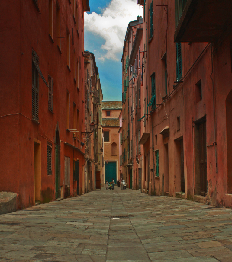 The backstreets of Bastia.the second city of Corsica in France on Mallory On Travel