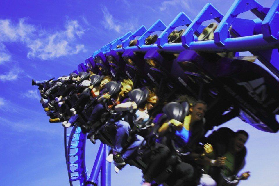 Blackpool Pleasure Beach and the revolution rollercoaster on Mallory On Travel adventure, photography