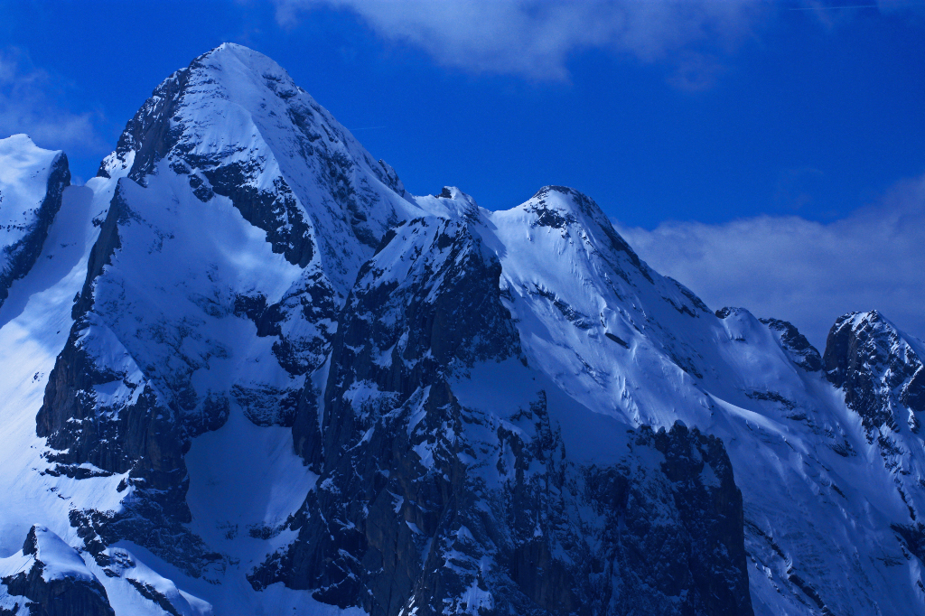 The awesome Marmolada extreme skiing terrain in the Italian Dolomites on Mallory On Travel adventure, photography