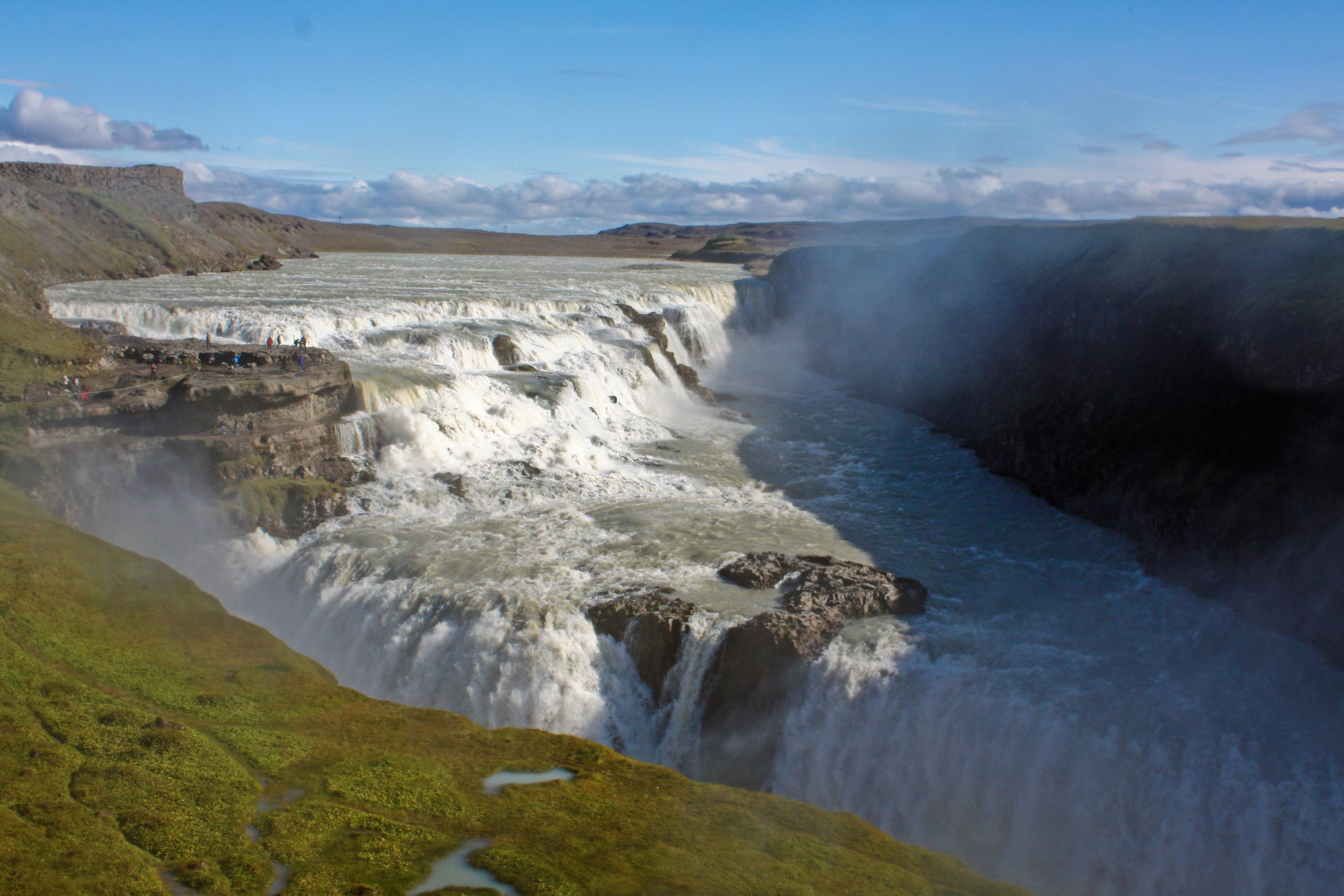 Gullfoss waterfall on Iceland's Golden Circle tour on Mallory on Travel adventure, photography