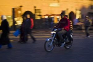 Understanding Your Camera; Moped boys in Marrakech, Morocco being panned Copyright © by Mallory On Travel 2011 adventure photography