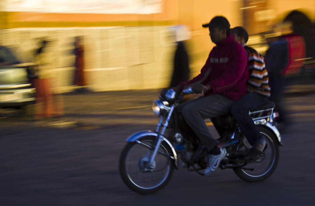 Scooters are a favourite form of transport in Marrakech, Morocco on Mallory On Travel