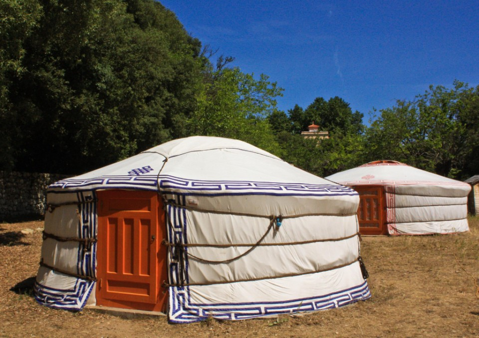 Couchsurfing yurts in Corte, Corsica in France on Mallory On Travel adventure photography