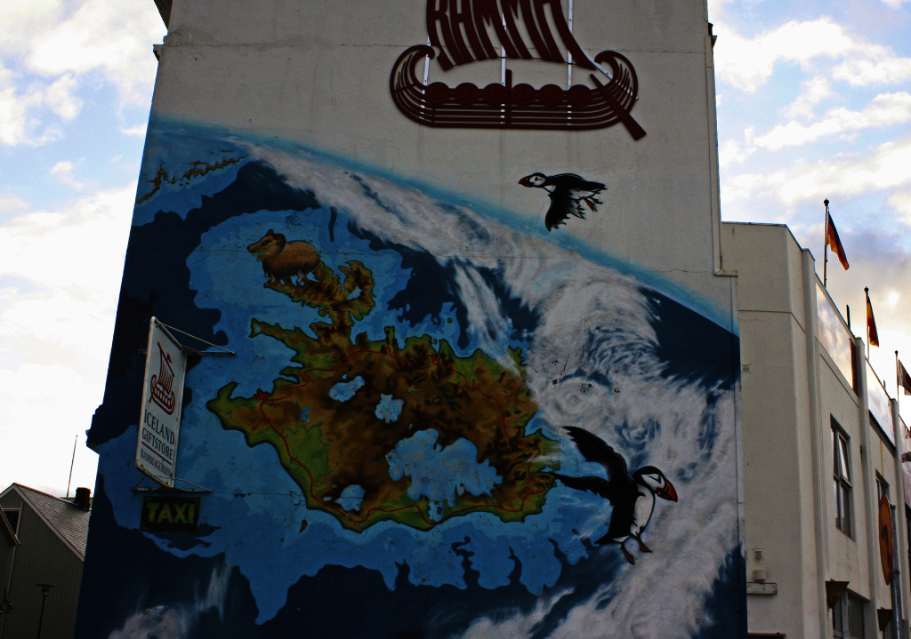 Street art in Reykjavik, Iceland on Mallory On Travel adventure, photography