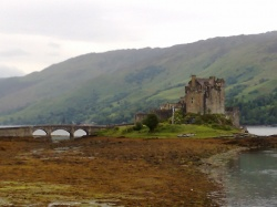 Eilean Donan Castle in the Highlands of Scotland in Great Britain on Mallory on Travel adventure, photography