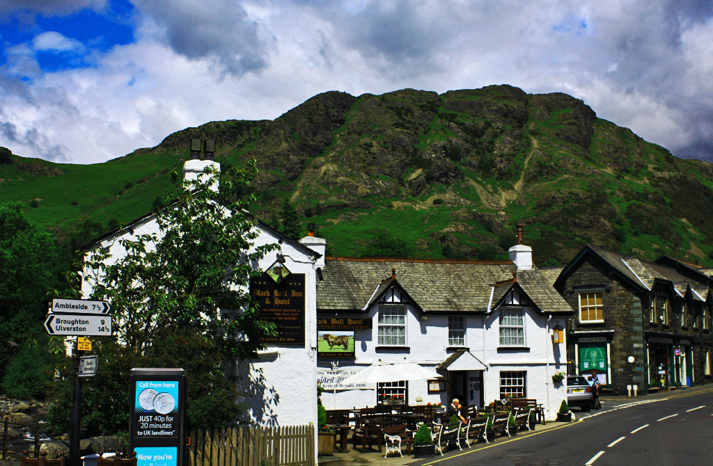 A traditional English village pub in Coniston in Great Britain on Mallory on Travel adventure, photography
