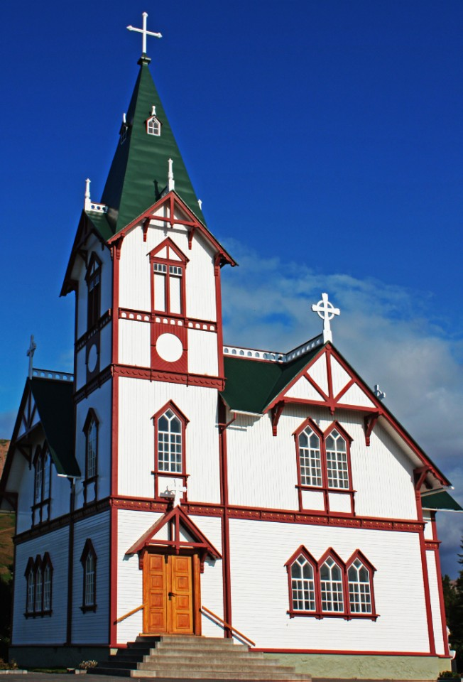 A church in Husavik, Iceland on Mallory on Travel, adventure, photography