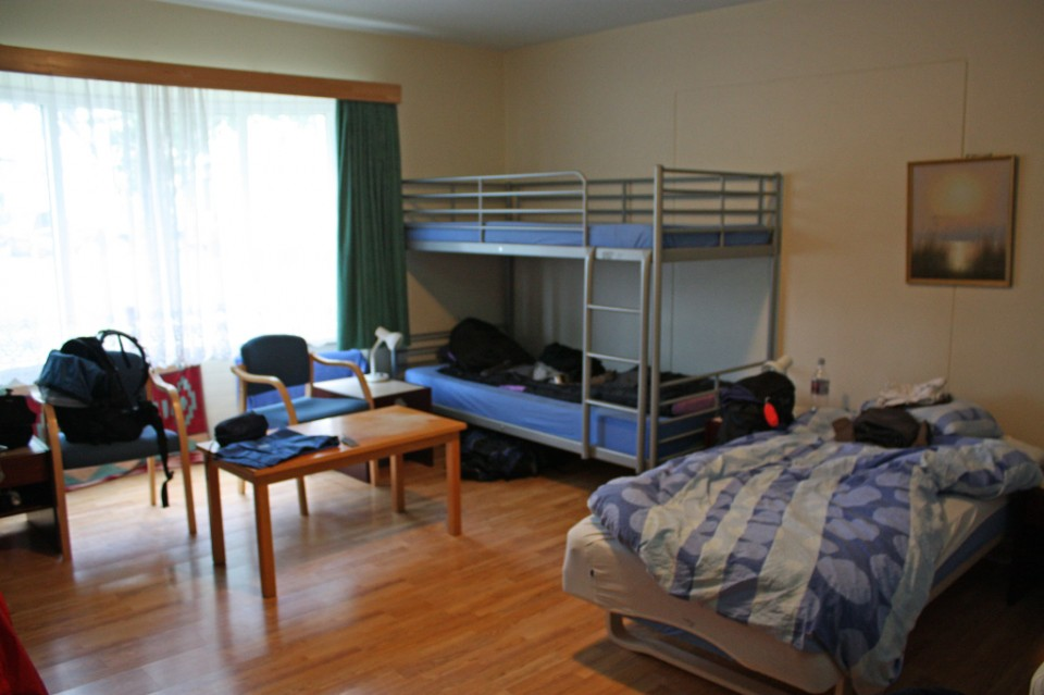 Dormitory in the Storholt Hostel, Akureyri, Iceland on Mallory on Travel, adventure, photography