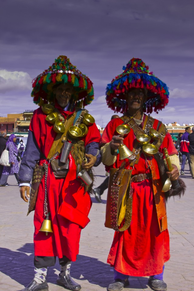 Professional models in Djemaa el Fna, Marrakech on Mallory on Travel, adventure, photography