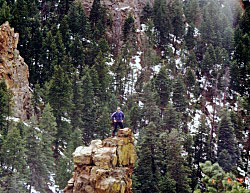Solo travel on a hiking trail in Colorado the US on Mallory on Travel, adventure, photography