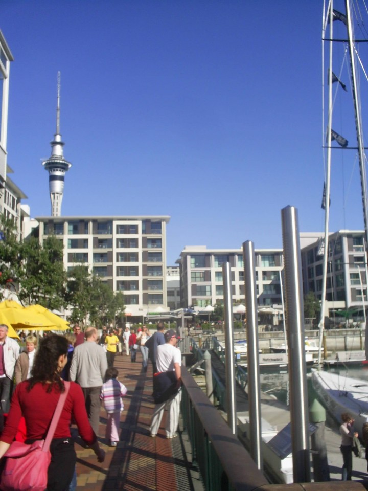 Viaduct Harbour in Auckland in New Zealand Copyright © by My Postcard From 2011  on Mallory on Travel adventure photography