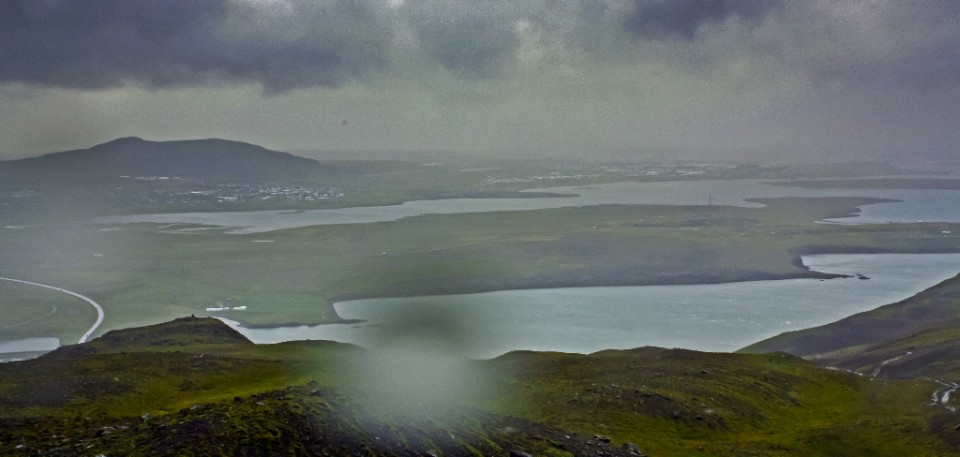 View from Mount Esja towards Reykjavik, Iceland on Mallory on Travel, adventure, photography