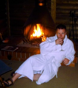 Fireside in my own log cabin, in the Australian Grampians on Mallory on Travel, adventure, photography
