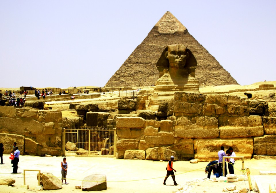 The mighty Sphinx at Giza near Cairo in Egypt on Mallory on Travel, adventure, adventure travel, photography