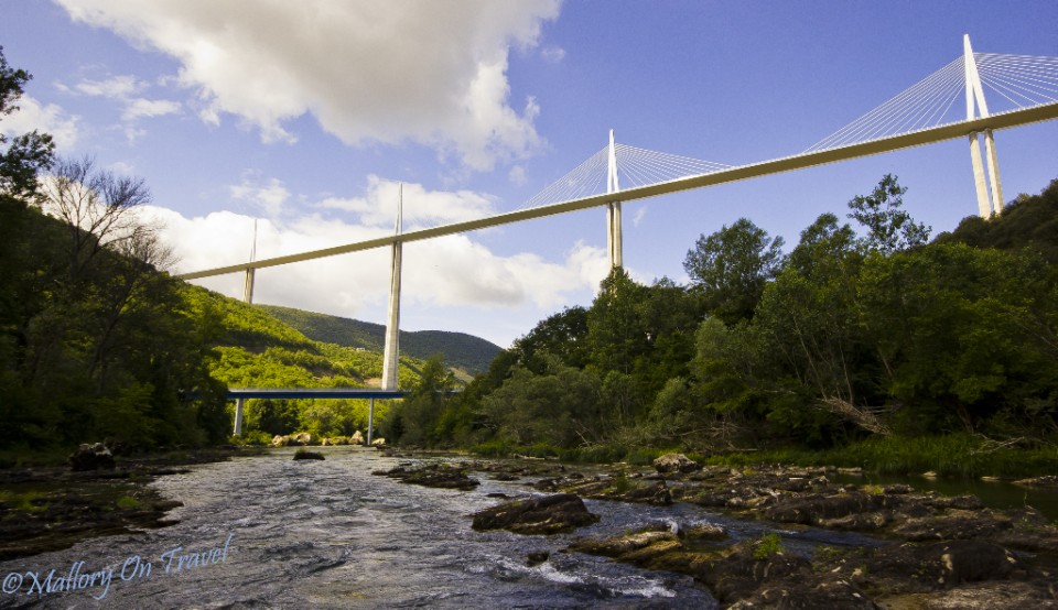 Below the Millau Viaduct on the Tarn River in the French Aveyron on Mallory on Travel, adventure, adventure travel, photography Iain_Mallory_00391