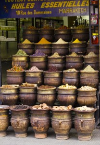 Spices in the medina in Marrakech, Morocco on Mallory on Travel, adventure, photography