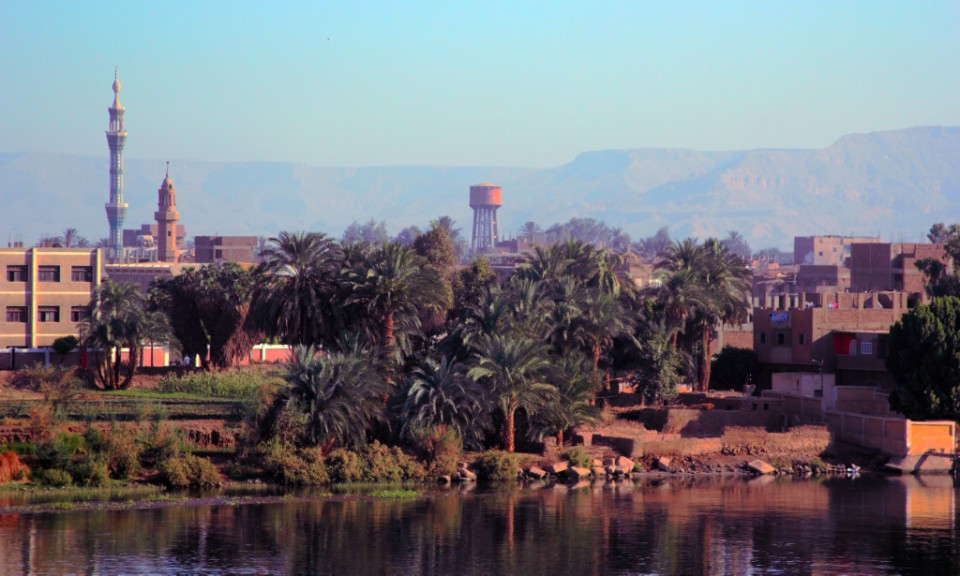A view across the Nile near Luxor in Egypt on Mallory on Travel, adventure, adventure travel, photography