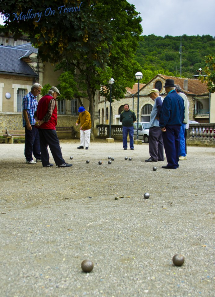 Boules in St Antonin Noble Val in the Aveyron, France on Mallory on Travel, adventure, photography