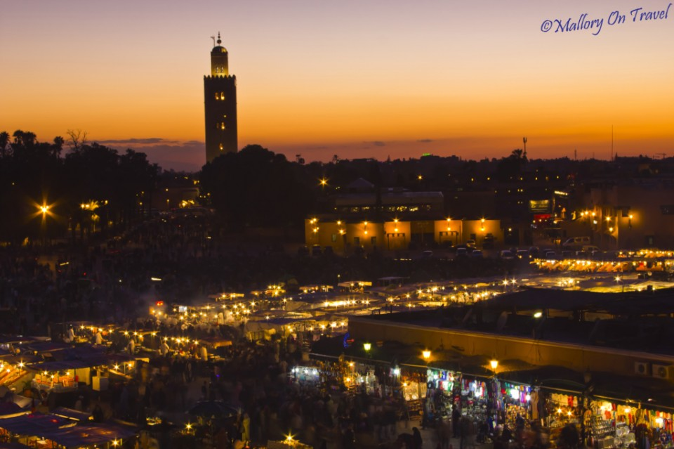 getting adventurous in Djemaa el Fna, Marrakech, Morocco on Mallory on Travel, adventure, photography