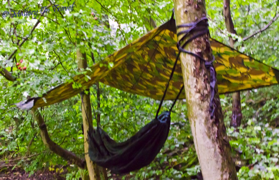 Hammock campsite on Mallory on Travel, adventure, photography