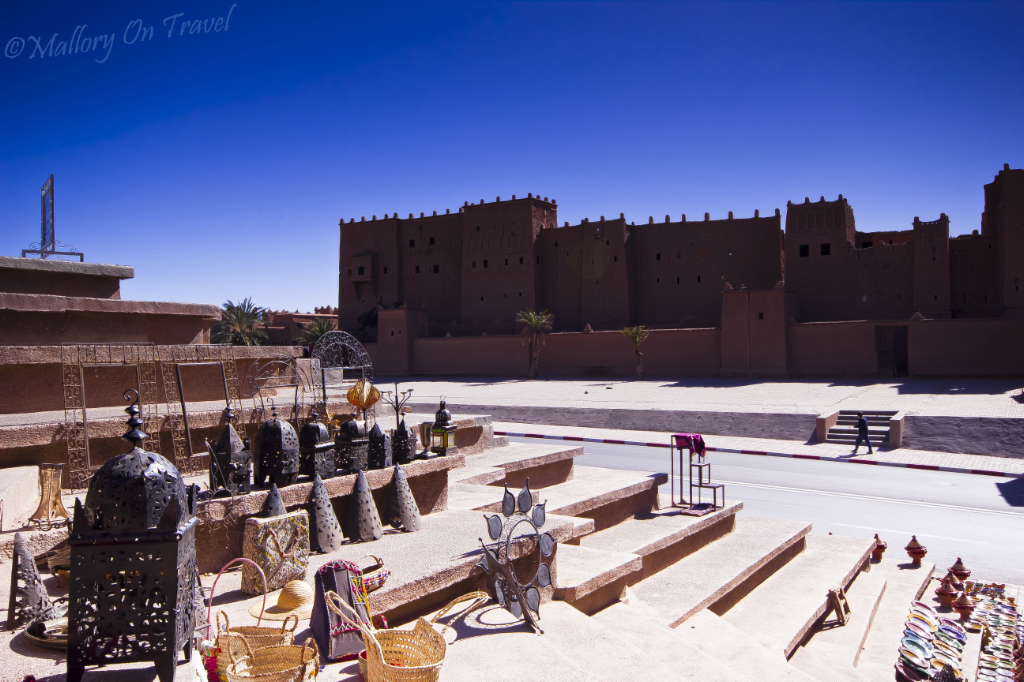 Kasbah at Quazzarate in the Moroccan High Atlas mountains on Mallory on Travel adventure, photography