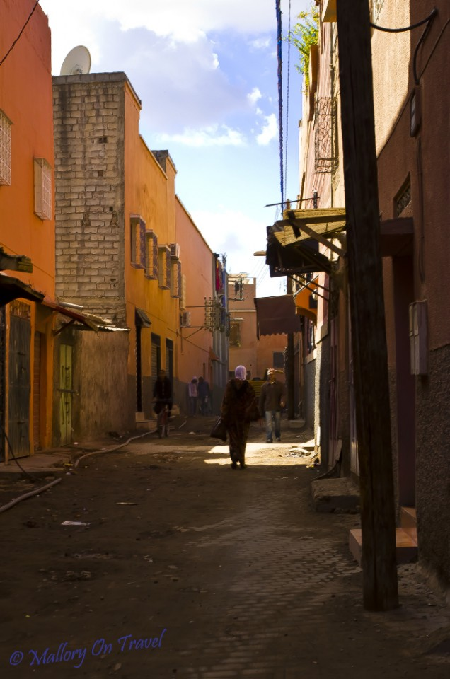 Lightweight travel In the medina of Marrakech, Morocco on Mallory on Travel, adventure, adventure travel, photography