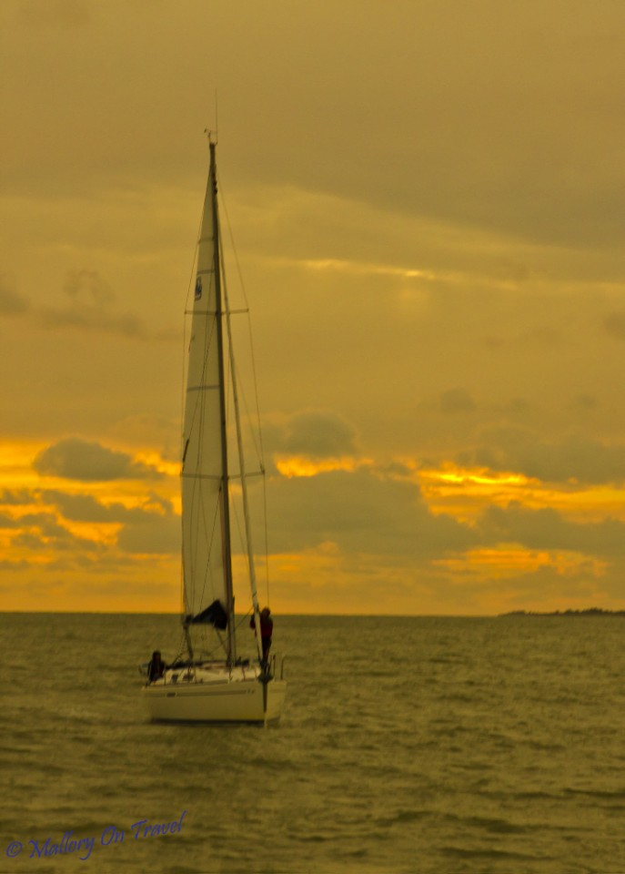 Sailing at sunset near La Rochelle in the Charente-Maritime, France on Mallory on Travel, adventure, adventure travel, photography