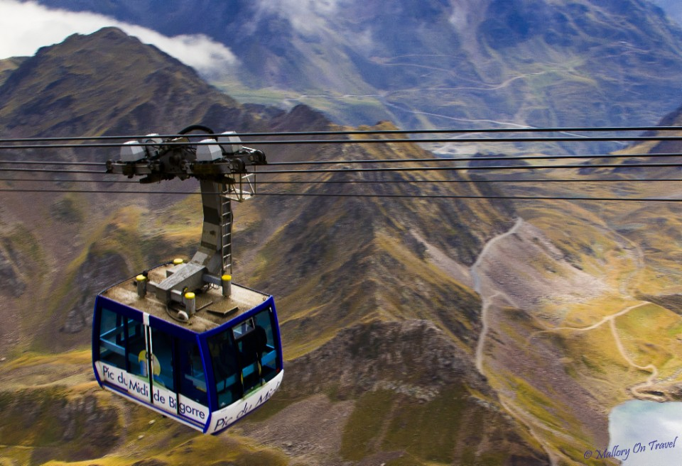 Cable car to the summit of Pic du Midi in the Haute-Pyrénées on Mallory on Travel, adventure, adventure travel, photography