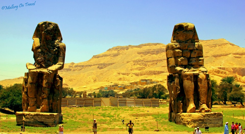Twin sphinxes in Egypt near Luxor on Mallory on Travel, adventure, adventure travel, photography