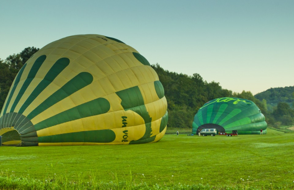Hot air balloon flight; Inflating the balloons in the Catalan coutryside on Mallory on Travel, adventure, adventure travel, photography Iain_Mallory_03680
