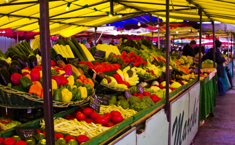 The market of La Rochell in the Charente-Maritime, France on Mallory on Travel, adventure, adventure travel, photography