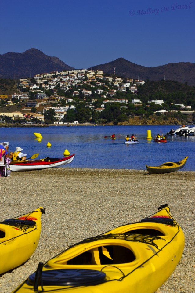 Sea kayaking in Llançà on the Catalan coast of Spain on Mallory on Travel, adventure, adventure travel, photography
