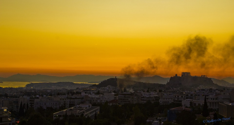 Sunset in Athens, capital city of Greece on Mallory on Travel, adventure, adventure travel, photography