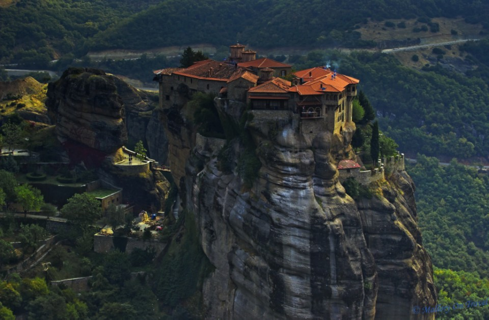 Monastery in the sky at Meteora, in the plain of Thessaly, Greece on Mallory on Travel, adventure, adventure travel, photography