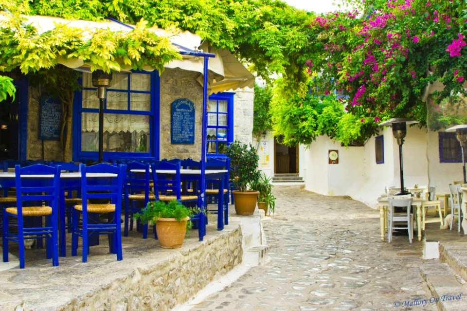 A bar and restaurant on the Saronic island of Hydra off Athens, Greece on Mallory on Travel, adventure, adventure travel, photography