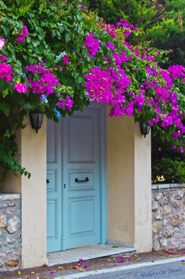 Doorway along the main Spetses road on the Greek Saronic Island on Mallory on Travel, adventure, adventure travel, photography
