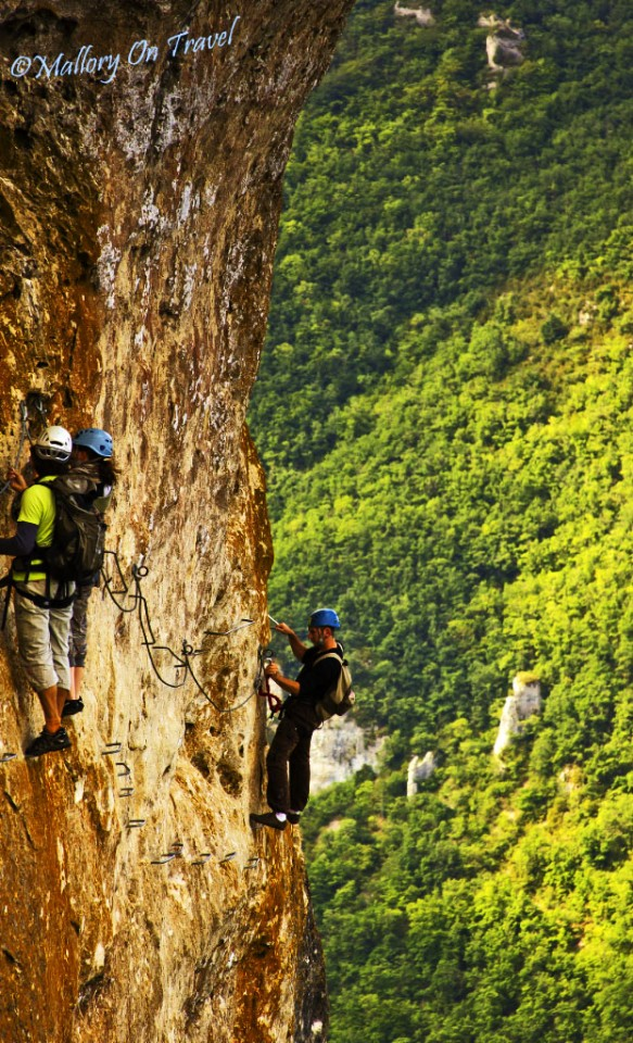 Via Ferrata near Millau in the Tarn Gorge in the Aveyron, France on Mallory on Travel, adventure, adventure travel, photography