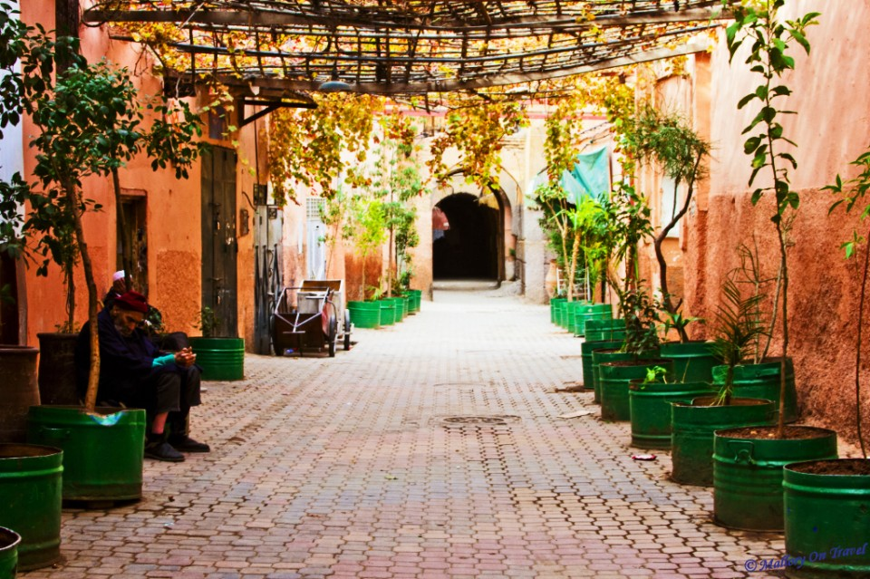 Exploring the backstreets of the medina in Marrakech in North African Morocco on Mallory on Travel, adventure, adventure travel, photography