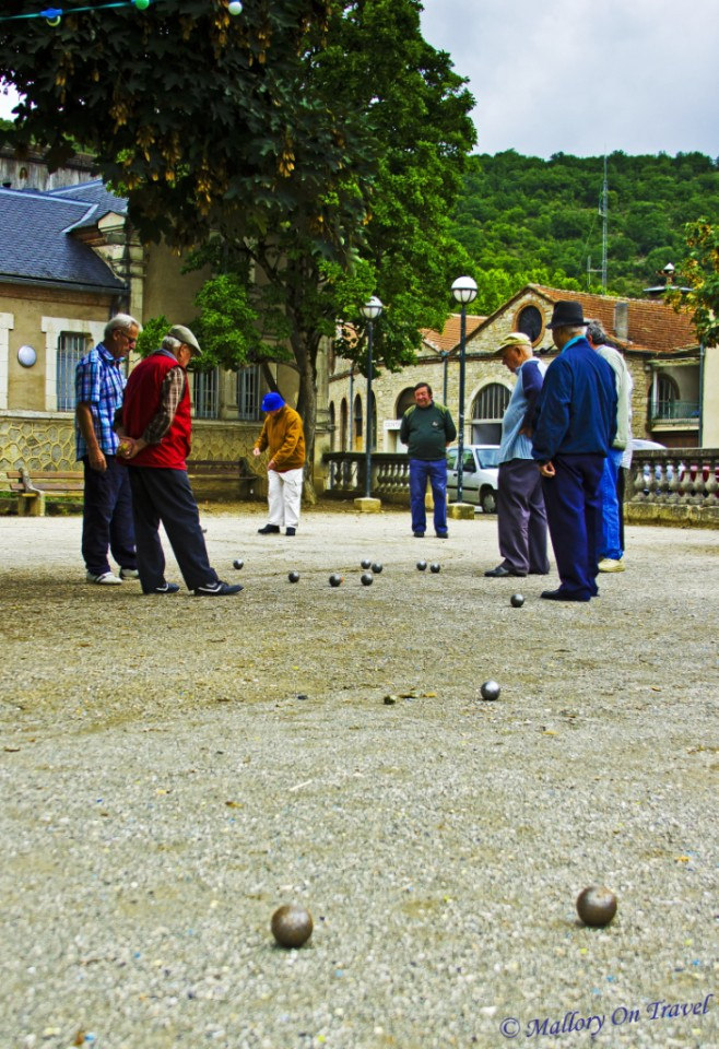 Relaxing with boules in St Antonin Noble Val in the French Aveyron on Mallory on Travel, adventure, adventure travel, photography
