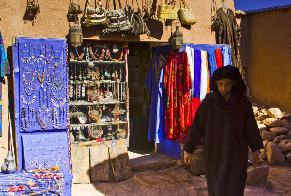 Exploring the Kasbah shopping mall at Quazzarate in the Moroccan High Atlas mountains on Mallory on Travel, adventure, adventure travel, photography