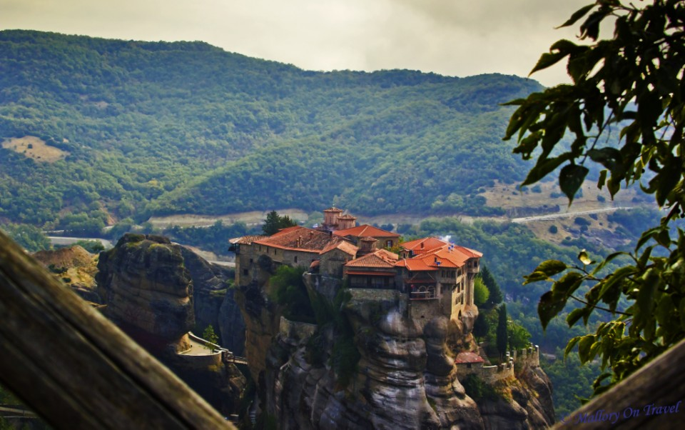 Meteora monasteries and rock spires in the Thessaly Plain, Greece on Mallory on Travel, adventure, adventure travel, photography