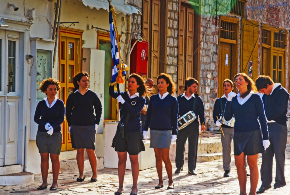Ochi Day on the island of Hydra in the Greek Saronic Gulf off the coast of Athens on Mallory on Travel, adventure, adventure travel, photography