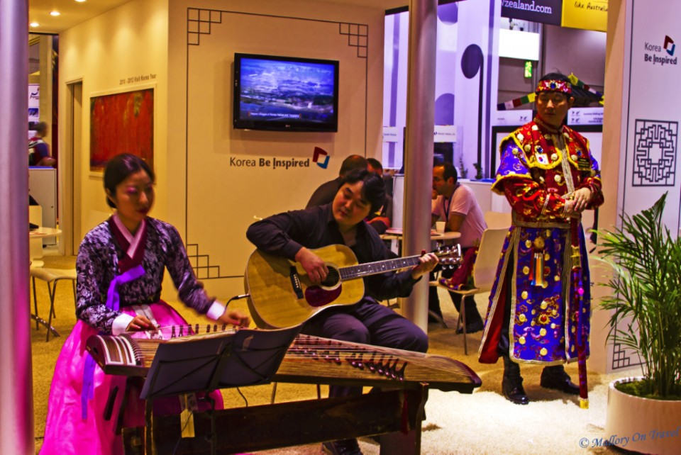 /the Korean stand at the World Travel Market in London, at the Excel Centre on Mallory on Travel, adventure, adventure travel, photography